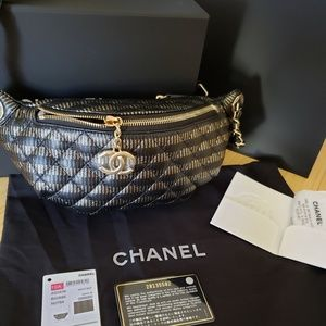 Chanel Bum Bag Black & Gold Runway Piece